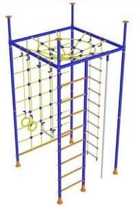 Детский спортивный комплекс - 5 опорный с широкой сеткой