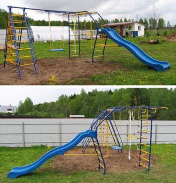 Детский спортивный комплекс  Модель № 9 с горкой ВАРИАНТ № 2