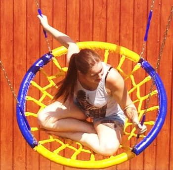Качели-гнездо (диаметр 1,0 метра) Подвес - на цепях (четыре луча)