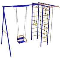 Детский спортивный комплекс для дачи -  Модель №3 с качелями на подшипниках