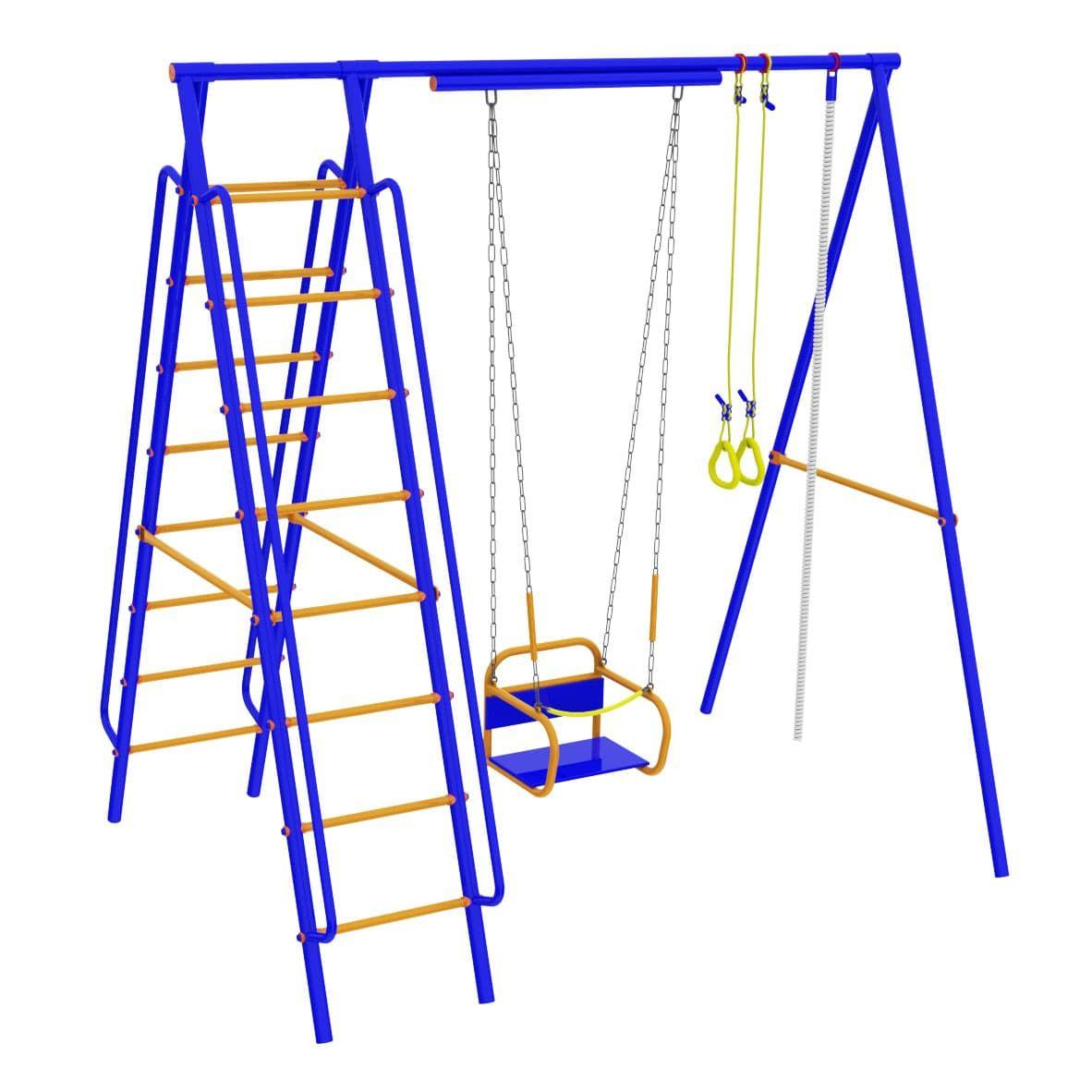 Детский спортивный комплекс для дачи -  Модель №4 с качелями на подшипниках