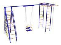 Детский спортивный комплекс Модель №8 с качелями на подшипниках