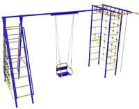 Детский спортивный комплекс  Модель №9 с качелями на подшипниках / цепях